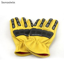 New mechanical gloves oil field work sheepskin first layer racing anti-collision shockproof FOX riding