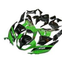 Bodywork fairing kit for Kawasaki ZX6R ZX 6R Ninja 0912 2009 2010 2012 green black fairings xl38