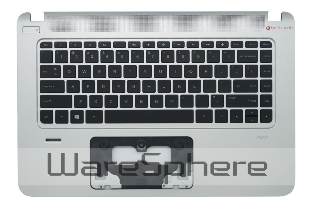 New Original Top Cover Upper Case With Keyboard US for HP ENVY 14-u 767376-001 SilverNew Original Top Cover Upper Case With Keyboard US for HP ENVY 14-u 767376-001 Silver