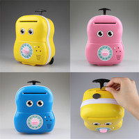 2017 Hot New Product Cute Meng Baby Automatic Roll Music Trolley Case Password Box Child Piggy
