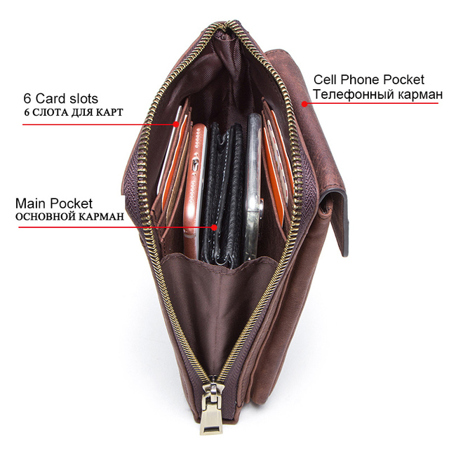 CONTACT'S genuine leather men shoulder bag for cell phone with card holders male vintage crossbody bag men's small waist packs 2