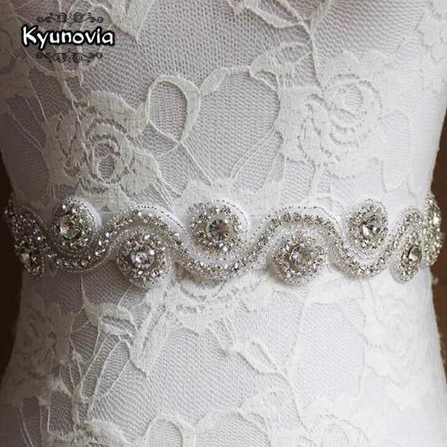 Online Shop Kyunovia Crystal Wedding Belt Bridal Sash Rhinestone
