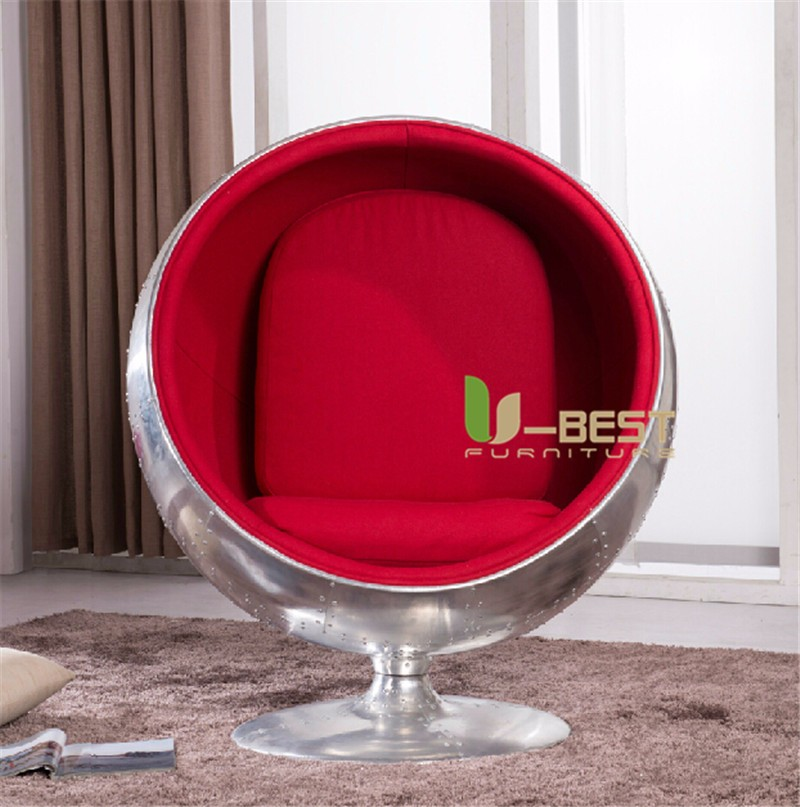 Aluminum ball shell chair  (1)