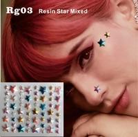 RG03 Spring Color Resin DIY Face Jewels Bindi Dots Sticker Eye Makeup Decor  Sticker Accessories Festival 95d6918fda09