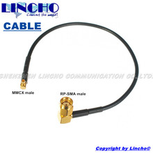 RG174 30CM right angle RP SMA male to MMCX male jumper cable