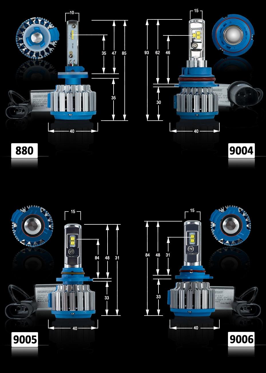 T1 LED CAR HEADLIGHT H4 H7 H11 H1 (10)