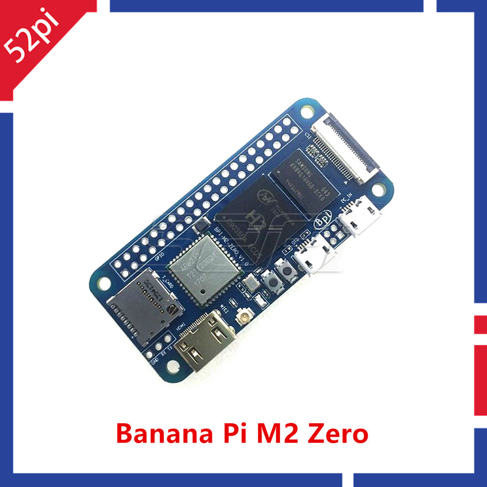Banana Pi BPI-M2 Zero Quad Core Single Board Computer, Support WIFI and with Alliwnner H2+ chip on board banana pi m2u bpi m2u bpi m2 ultra r40 quad core 2gb ram with sata wifi bluetooth 8gb emmc demo single board and 1pcs3db antenna