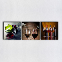 3 Pieces Paintings For The Rea Wine, Wine Glass Wall Decor Modern Canvas Art  Wall Pictures For Dining Room Wine Picture On Wall