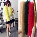 Cuello de Piel de Imitación de invierno Nuevo 2017 Mujeres de La Manera Bufanda de Piel De Zorro 130 cm Larga Femenina Bufanda Caliente 11 colores