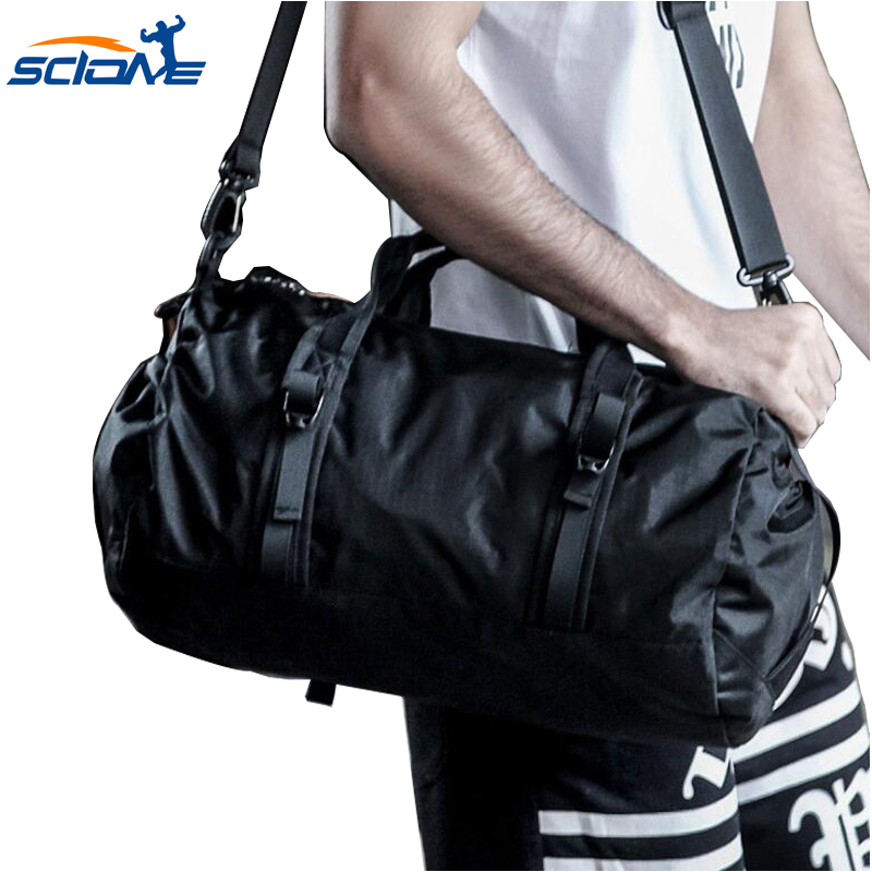 Scione New Men Sport Gym Canvas Bag  Waterproof Large Space Hand Duffel  Men For Fitness Shoulder Outdoor Hiking Portabl Bag