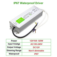 120W LED Driver Input AC100-240V Output DC12V IP67 Outdoor waterproof lighting Transformer 10A Constant voltage Power Supply