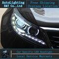 Стайлинга автомобилей Головная Лампа для Kia Sportage R светодиодные фары 2011-2013 Ангел глаз сид drl H7 hid Би-Ксеноновые Линзы низкой луч