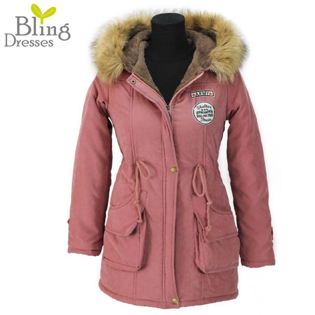 Autumn Parkas Winter Jacket Women Coats Female Outerwear Plus Size Casual Long Cotton Wadded Lady Woman Fashion Warm