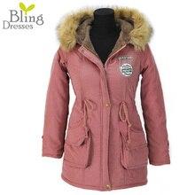 Autumn Parkas Winter font b Jacket b font Women Coats Female Outerwear Plus Size Casual Long