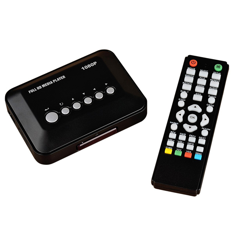 2015 New Full HD Media Player Mini 1080P Multimedia Player Mini HD Media Box Support HD USB SD/MMC With Retail Package
