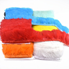 wholesale Crafts Turkey Feathers Trimming Fringe 6-8cm Width DIY belt with wedding Carnival Clothing plumas decoration