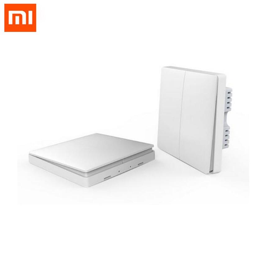 New Xiaomi Aqara Smart Light Control ZiGBee Wireless Key and Wall Switch Via Smarphone APP Remote