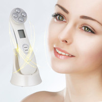 Beauty Instrument Electroporation Mesotherapy RF Radio Frequency Facial LED Photon Skin Care Face Whitening Anti Wrinkle