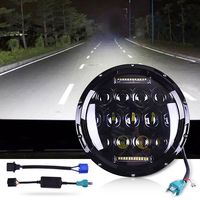 75w Led Headlight 7inch Round High Low Beam DC 12v 24v External Lights For Off Road