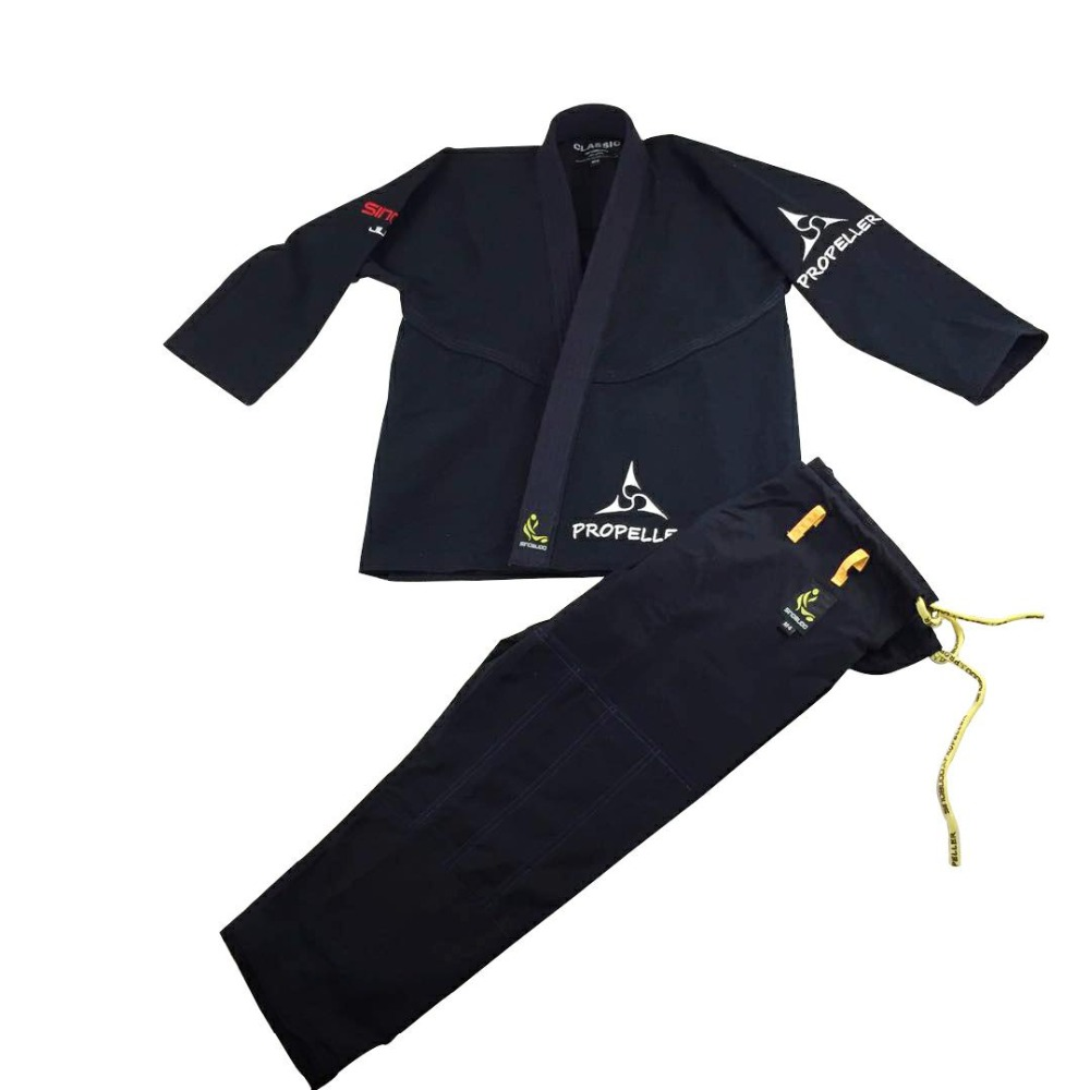 Black/Blue BJJ Gi Jiu Jitsu gi Thickened Training Suits Children Adults International Standard Martial Arts Clothing kid s blank bjj gi children s brizilian jiu jitsu gi training bjj kimonos