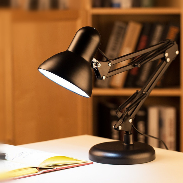2016 New Vintage Iron Art Folding Desk Lamp Bedroom Bedside Lamp Clip + Lampstand Dual-use Lamp Home Table Decoration Lights 5W