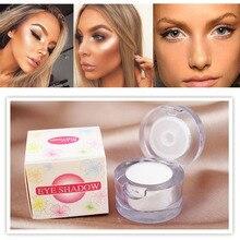 New Brand 2 in 1 Eye Make Up Highlighter Shining Shimmer Powder Face Brighten Pigment White
