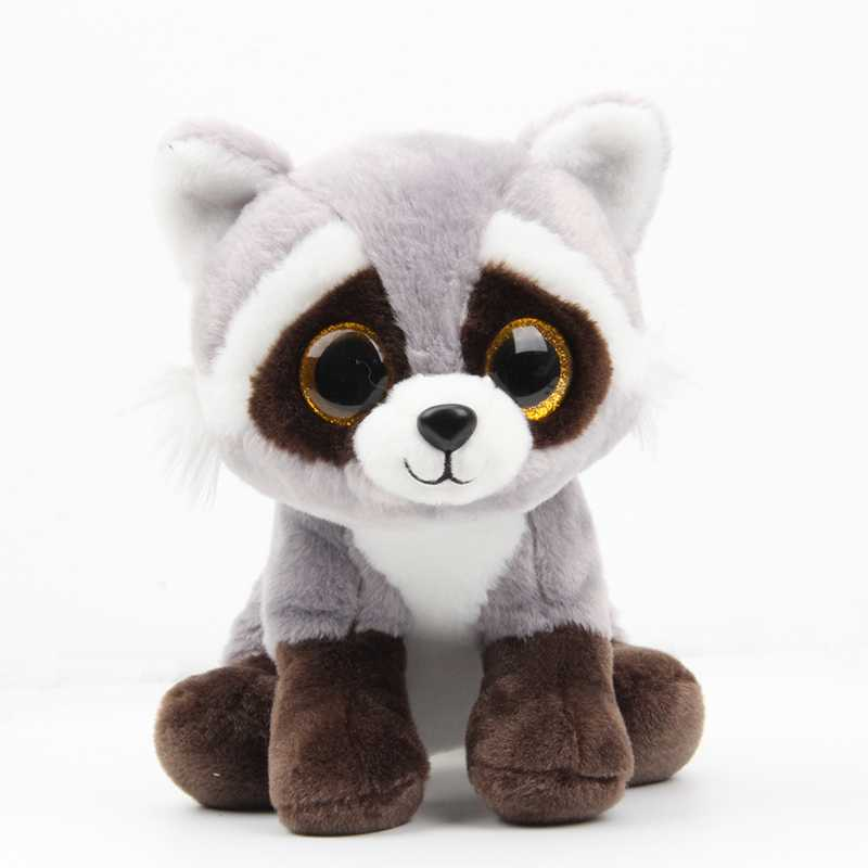 26CM New Ty Beanie Big Eyes Stuffed Animals Raccoon bear panda Pig Plush Toys Plush For Children girl Christmas New Year Gifts fancytrader biggest in the world pluch bear toys real jumbo 134 340cm huge giant plush stuffed bear 2 sizes ft90451