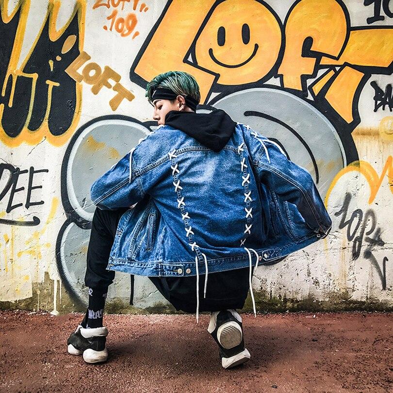 Col Hommes Rue Denim Streetwear Veste Marée Outwear Conception As Stand Jeans Picture Mode De 1 Manteau Nouvelle qwPSq