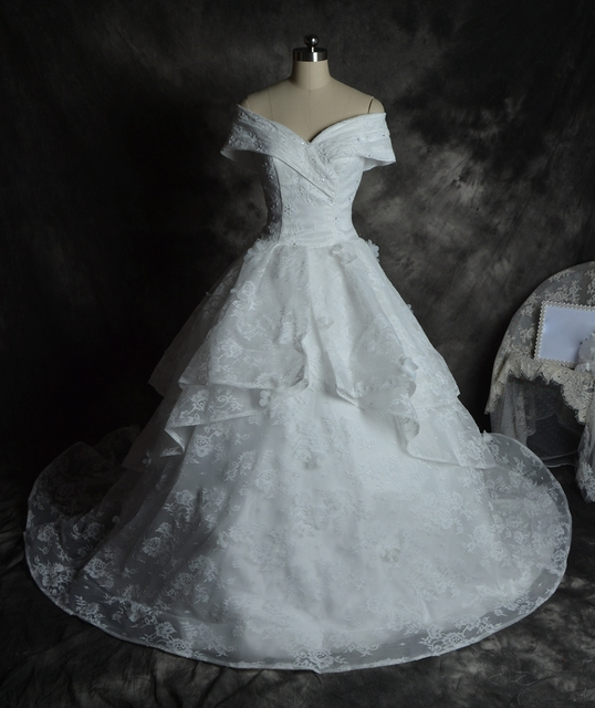 Elegant Princess Ball gown All Lace beaded Designer plus size ...