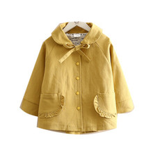 girl spring jacket solid pink yellow gold bow baby outfit fashion kids outerwear boutiques children's clothing