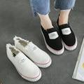Hot Sale Floral Canvas Shoes 2016 Fashion Appliques Slipony Women Footwear Height Increase Girl Female Comfort Slipon Women Shoe