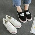 Venta caliente Zapatos de Lona Florales 2016 Moda Apliques Slipony Mujeres Aumento de la Altura Calzado Chica Slipon Comodidad Femenina Zapato de Las Mujeres