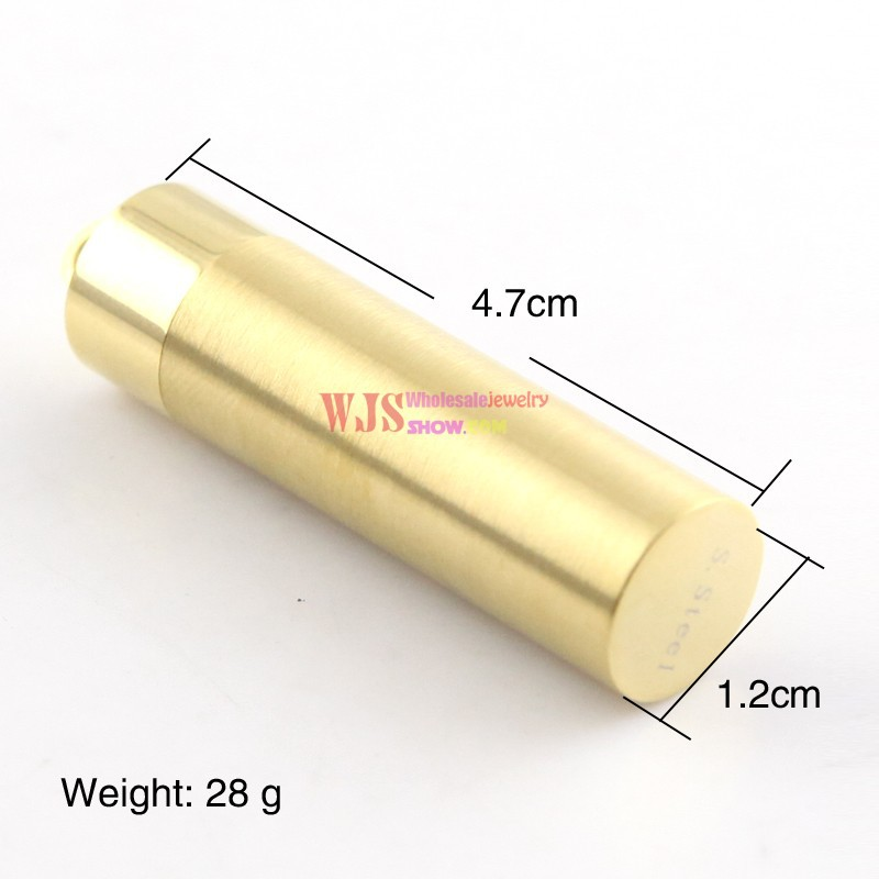 Gold Plating Cylinder Bullet J Cam Design Pendant Stainless Steel Pendant Cool Fashion Pendant Size Cm Weight G In Pendants From Jewelry