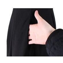 فستان كلاسيك أنيق بلونين ودانتيل راقي مناسب للعمل