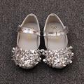 2017 nuevos niños shoes chicas lindas coreanas princesa shoes rhinestones kids casual partido único calzado baby toddler shoes