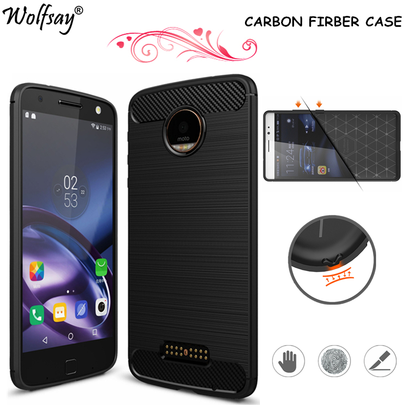 Wolfsay For Phone Cover Motorola Moto Z Case Rubber Silicone Phone Case For Motorola Moto Z Cover Luxury Fundas For Moto Z Case