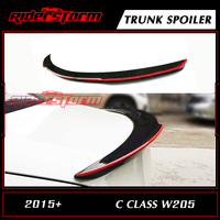 FD Red Line Style Carbon Rear Spoiler W205 Sedan 4 Door Decktail Wing Bootlid Lip for Mercedes C Class C180 C200 C250 2015 2017
