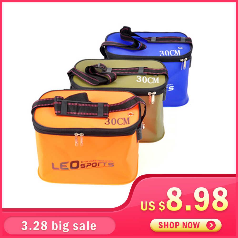 8bef18dbbfd2 Leo EVA Портативный складной ведро для рыбы воды 30/35 см с ручкой  герметичные Открытый