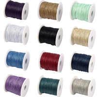 45 colori 1mm 85 metri di filo Cerato per i braccialetti della stringa di cotone spool corda fatti a mano monili che fanno collana fai da te cavo nero menta