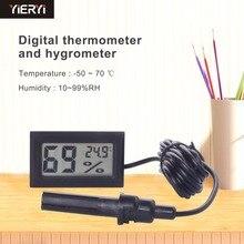 Цифровой мини-ЖКД термометр C гигрометр холодильник морозильник температура измеритель влажности белое яйцо инкубатор длина кабеля