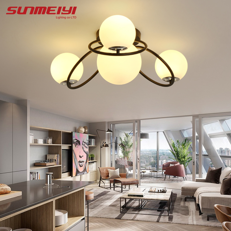 White/Black LED Ceiling Lights lamparas de techo Modern Ceiling Lighting For Living room Bedroom luminaire plafonnier avize