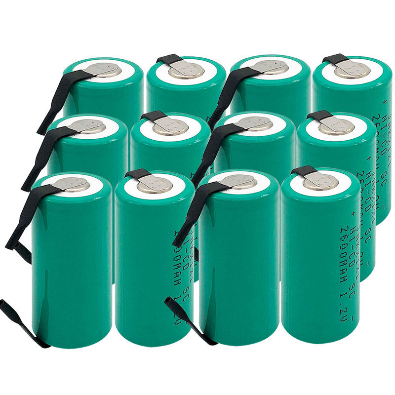 OOLAPR  15PCS   High Quality Battery Rechargeable Battery SC Battery SC Battery Replacement 1.2 V With Tab 2600 Mah
