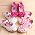Wholesale-children shoes girl flower shoes kids leather shoes 5 pairs/l