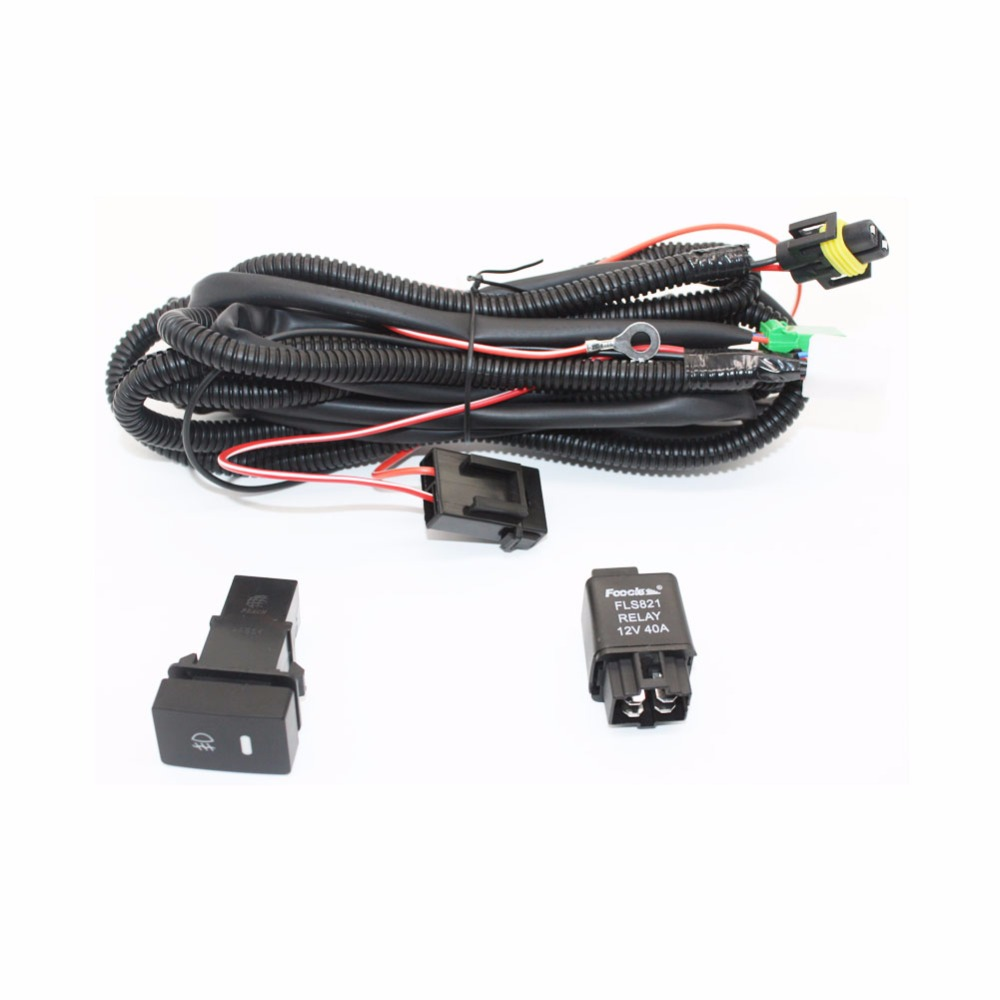 For Nissan Sentra 2007 2011 2012 H11 Wiring Harness Sockets Wire Connector  Switch + 2 Fog Lights DRL Front Bumper LED Lamp-in Car Light Assembly from  ...