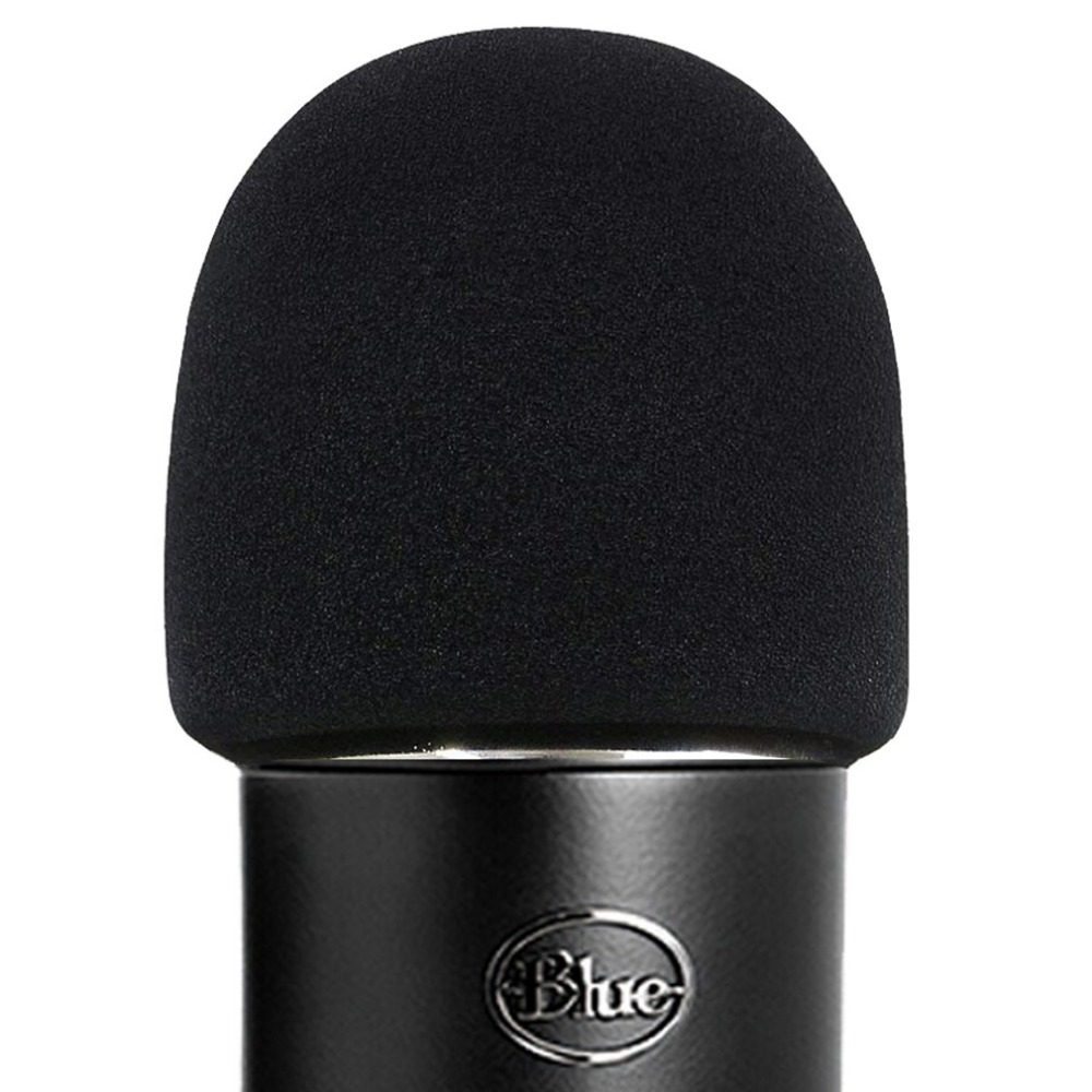 SHELKEE  Foam Microphone Windscreen For Blue Yeti ,Yeti Pro Condenser Microphones-  As A Pop Filter For The Microphones