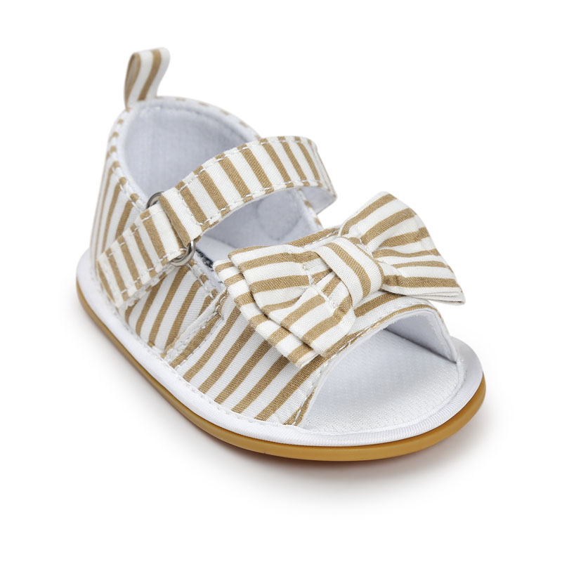 Hot-sale-New-Stripe-Bowtie-Cute-Baby-moccasins-child-Summer-girls-sandals-Sneakers-First-walkers-Infant-Fabric-shoes-0-18-M-2