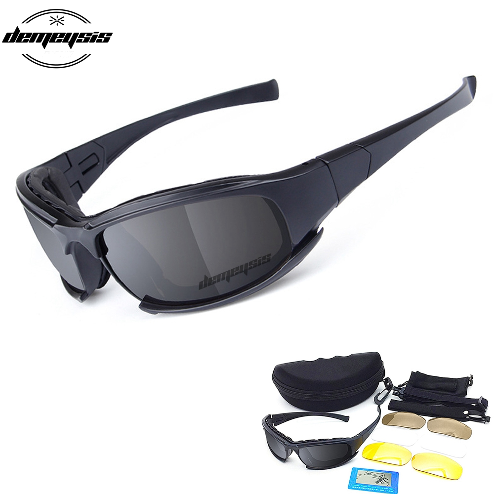 X7 Polarized Tactical Glasses 4 Lenses Military Sport Shooting Goggles Hunting Sunglasses Army Hiking Paintball Camping Glasses