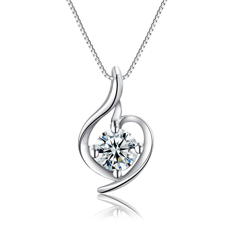 925 Sterling Silver Pendant Choker Necklace with 18inch 0.8mm box chain Best gift for lover Mother girls