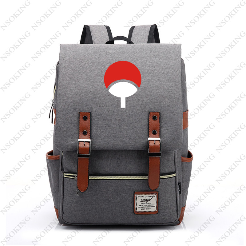 Naruto Backpack New Personalized Anime Student School Canvas Bag Fashion Men Women Vintage Travel Backpacks