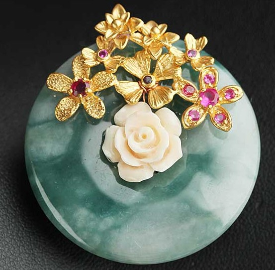 Natural semi-precious stone Brooch Pins & pendant double use Cute Pin Free shipping fashion women jewelry natural semi precious stone brooches pins with freshwater pearl butterfly free shipping women jewelry pendant